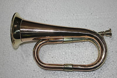 Copper & Brass Bugule B Pitch Nice Tune With Hard Case