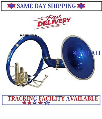 Brand New Golden+Blue Colored Susaphone Very Good Pc=Bag+Mp