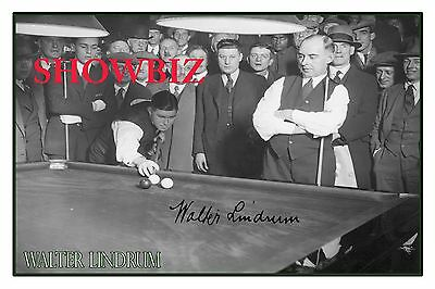 "Walter ""wally"" Lindrum * Australian Billiards World Champion Signed Photo Print"