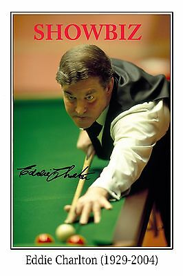 * Eddie Charlton * Australian Billiards & Snooker Legend Signed Photo Print