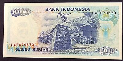 1992 1000  Rupiah UAF 079698 circulated condition