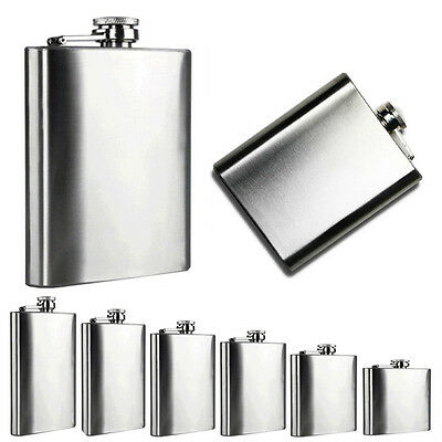 Pocket Drink Stainless Steel Hip Flask Liquor Whiskey Alcohol Flasks Cap Alcohol