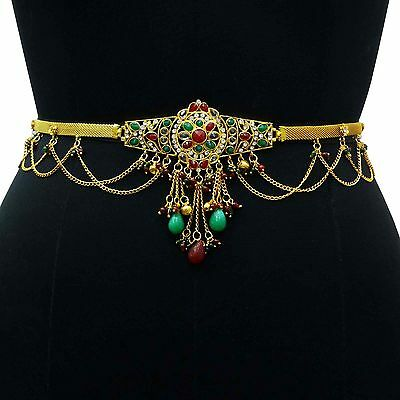 Traditional Goldplated Kundan Waist Belt Wedding Bridal Kamar Band Stone Jewelry