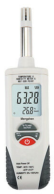 Digital Air Thermo-Hygrometer+Wet Bulb Psychrometer Dew Point Humidity Meter