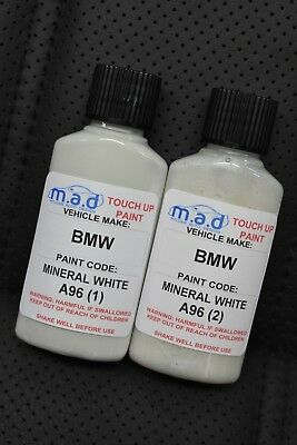 Bmw Mineral White A96 Paint Touch Up Kit 30Ml 1 3 5 7 8 Series