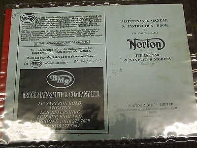 Norton Jubilee and Navigator Parts Book Reproduction Used