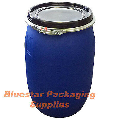 120L Litre Ltr Open Top Plastic Storage Drum Barrel Keg With Lid * Brand New *