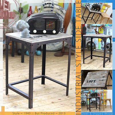 Loft Vintage Mid Century Modern Industrial Style (!!!) Side Table Tisch Steel