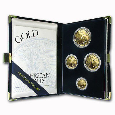 1995-W 4-Coin Proof Gold American Eagle Set (w/Box & COA)