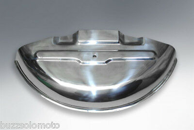 Vespa GS160 Spare Wheel Half Moon Cover in Stainless Steel