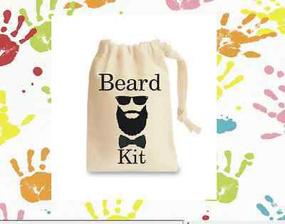 New Mens Beard Kit Bag Personalised Gift Bags Birthday Fun Novelty Gift Etc>>