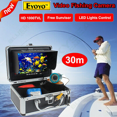 "Hood Shade Cover+7"" LCD Underwater Video Camera System Fish Finder 30M 1000TVL"