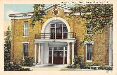 Hampton South Carolina County Court House Exterior Antique Postcard K27218