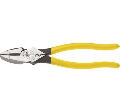 Klein Tools 9 In High Leverage Side Cutting Pliers With Crimp