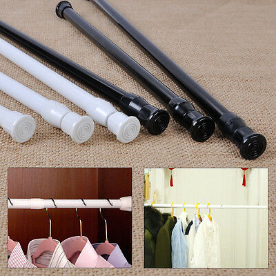 30cm-90cm Adjustable Shower Curtain Bathroom Window Carbon Tension Rod Pole