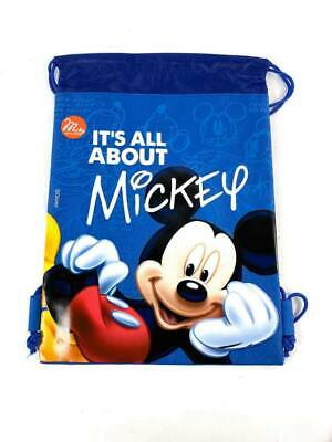 83a4f0a42c7 Disney Mickey Mouse Drawstring School Backpack Gym Sport Tote Bag - Blue