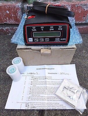 RKI Instruments GX-86A Combustible Gas Oxygen H₂S CO Monitor Meter Original box