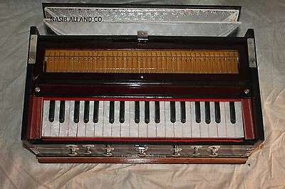 NEW HARMONIUM INDIAN *OCTAVE~7* STOPPER~BASS/MALE REED~440 Hz.MULTI FOLD BELLOW