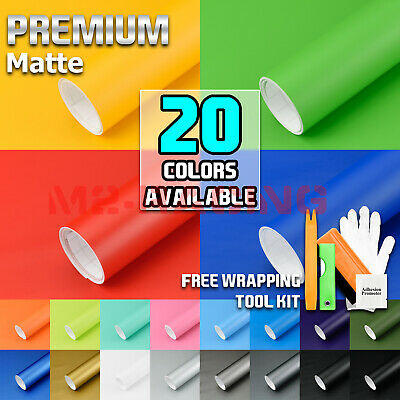 *19 Colors Premium Matte Vinyl Wrap Sticker Decal Sheet Bubble Free Air Release