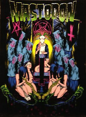 Mastodon Blacklight Poster Heavy Metal Band Music Rock Evil Devil Rare