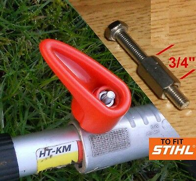 Strong durable connector for Stihl KM Kombi tool shaft handle wingnut T knob  M6