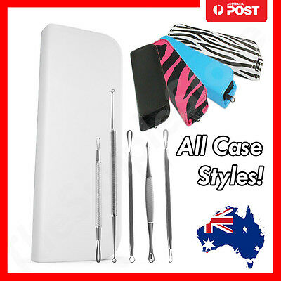 5pc Blackhead Acne Blemish Black Head Comedone Pimple Remover Extractor Tool Kit