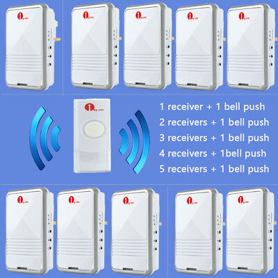Wireless Plug-in Visitor Door Bell Chime Ringer 36 Tones Sync Unlimited Receiver