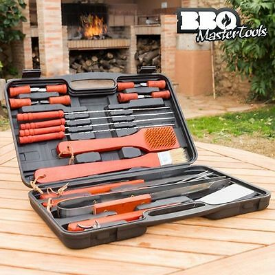 BBQ Barbecue Tool Kit Utensil Camping Set Stainless Steel Cutlery Home Garden