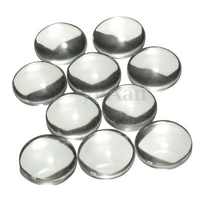 10/20/50/100 pcs Crystal Clear Round Cabochon Flat Back Glass Domed Tile 12mm