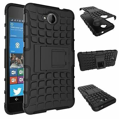 MICROSOFT LUMIA 650 [Slim Armour] Tough Shock Proof Case Stand + LCD Guard