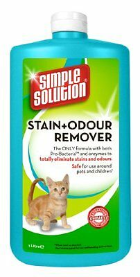 Simple Solution Stain & Odour Remover For Cats 1000 Ml Pet Supplies New
