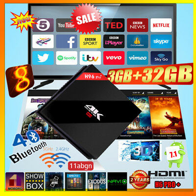 H96 Pro Plus Android7.1 Amlogic S-912 OctaCore 3+32GB 2.4+5.8G WiFi 3D 4K TV BOX