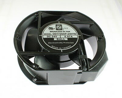 New Orion Brushless Fan 24VDC 5 Blades Plug Leads 24V DC .97A 12W