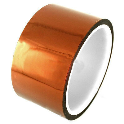 50mm 5cm x 30M Kapton Tape Sticky High Temperature Heat Resistant Polyimide SP2G