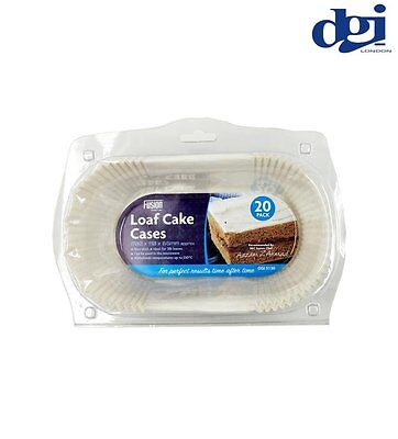 Pack of 20 Loaf Tin Liners Paper 2lb Baking Oven Cakes