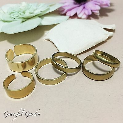 CR2146 Graceful Garden Assorted Vintage Style Solid Brass Cuff/ Band Ring