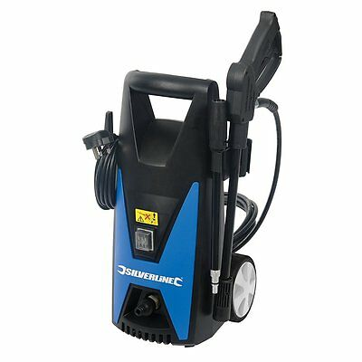 Silverline Jet Power Washer 105bar Max Pressure Car Patio Cleaner 102580