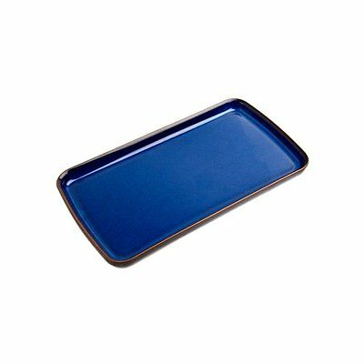 Denby Imperial Rectangular Plate Blue New