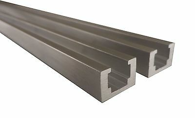 "2 Each 24"" Aluminum T Track .730"" Wide x .490"" High Holes Every 3"" TTOA24X2"
