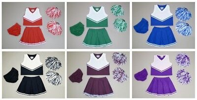 Cheer Kids Youth Cheerleader Uniform Outfit Girls Sizes 4 to 14 Many Colors
