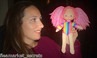 "Vintage Rainbow Brite Doll 10"" Doll Tickled Pink 80's Original W/ JUMPER TOY"