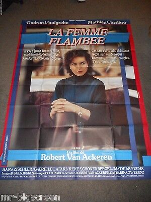A Woman In Flames - Original Huge French Folded Poster - Gudrun Landgrebe
