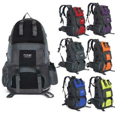 50L Outdoor Hiking Backpack Hiking Shoulders Bag Travel Waterproof Rucksack