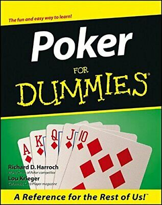 Poker For Dummies by Krieger, Lou Paperback Book The Cheap Fast Free Post