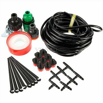 8M 8x Drippers Micro Drip Irrigation System Watering Kit Automatic Plant Garden