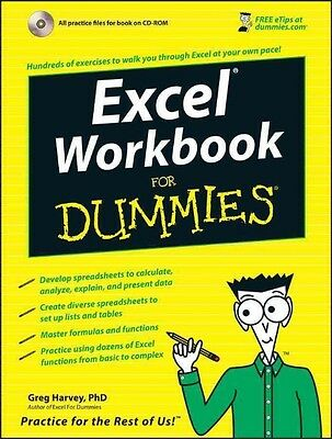 Excel Workbook for Dummies [With CDROM] by Greg Harvey Paperback Book (English)