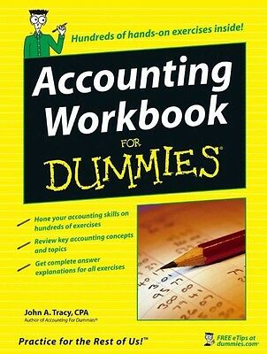 Accounting Workbook for Dummies by John A. CPA Tracy Paperback Book (English)