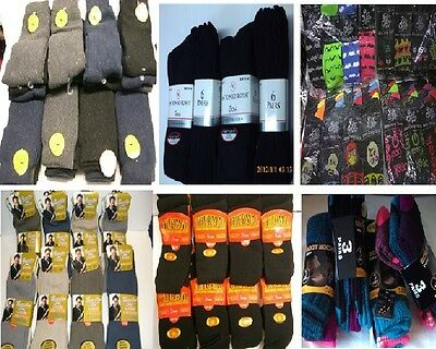 JOB LOT Designer 24 different socks Clearance liquidation Mens Socks