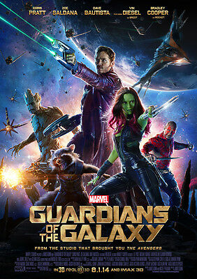 Guardians of the Galaxy Poster Print Borderless Stunning Vibrant A1 A2 A3 A4