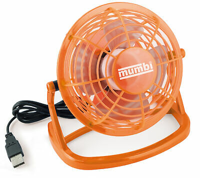 mumbi 2x USB Ventilator Mini Tisch Venti Fan f. Computer Notebook Laptop orange